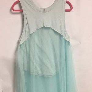 Free people med tulle tunic top new